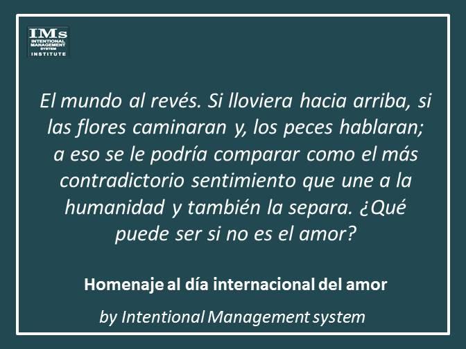 Homenaje al día internacional del amor