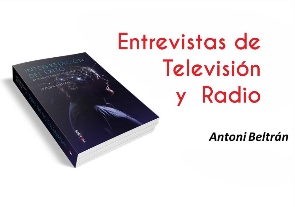 Entrevistas y eventos de Presentación Libro Antonio Beltrán